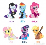 1940s 1950's 1950s 1960s 1970s 1980s 1990s 70s applejack_(mlp) blonde_hair blue_eyes clothing comb cutie_mark earth_pony equine female feral flannel_shirt flower fluttershy_(mlp) friendship_is_magic fur gonzahermeg greaser green_eyes grunge guitar hair hat hippie horn horse invalid_tag jacket leg_warmers legwear long_hair mammal multicolored_hair musical_instrument my_little_pony pegasus pink_hair pinkie_pie_(mlp) plant pony purple_eyes purple_hair rainbow_dash_(mlp) rainbow_hair rarity_(mlp) twilight_sparkle_(mlp) unicorn wear wings  Rating: Safe Score: 8 User: QuetzalcoatlColorado Date: April 30, 2016