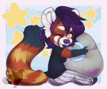 anthro chibi clothed clothing female fur hair honesty_(artist) looking_at_viewer mammal red_panda sitting smile soloRating: SafeScore: 0User: Cat-in-FlightDate: February 21, 2017