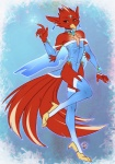 anthro avian bird bodysuit cardinal_(bird) choker clothed clothing crossdressing elbow_gloves gloves jewelry legwear looking_at_viewer luckypan male nekra pose red_cardinal skinsuit solo standing stockings  Rating: Safe Score: 15 User: Tauxiera Date: May 19, 2013