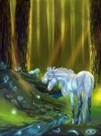 absurd_res equid equine fantasy feral forest hi_res horse male mammal solo tree