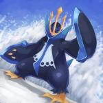 ambiguous_gender avian bird blue_eyes claws empoleon hi_res nintendo penguin pokémon solo unknown_artist video_games  Rating: Safe Score: 9 User: Rad_Dudesman Date: November 18, 2015