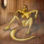 bedroom_eyes breasts claws female kostos_art lizard nipples pussy reptile sauna scalie spread_legs spreading wet   Rating: Explicit  Score: 0  User: ChestFox  Date: March 16, 2014