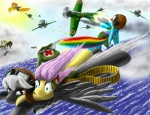 aircraft airplane derpy_hooves_(mlp) equine female feral fluttershy_(mlp) friendship_is_magic group gun hi_res horse japanese laaseensld m1911 mammal my_little_pony pegasus pistol pony rainbow_dash_(mlp) ranged_weapon soarin_(mlp) spitfire_(mlp) thompson_submachine_gun war weapon wings wonderbolts_(mlp) world_war_2   Rating: Safe  Score: 7  User: Kholchev  Date: January 19, 2012