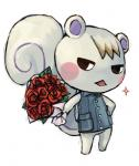 animal_crossing anthro bottomless clothed clothing flower half-dressed holding_flower looking_at_viewer male mammal marshal_(animal_crossing) nintendo plant rodent rose squirrel unknown_artist video_games   Rating: Safe  Score: 3  User: Untamed  Date: December 09, 2013
