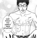 anime black_and_white cat clothed clothing comic feline feral greyscale half-dressed human male mammal manga monochrome topless unknown_artist  Rating: Questionable Score: 0 User: ktkr Date: April 18, 2010
