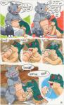 anthro argon_vile big_penis comic cum cum_in_mouth cum_inside duo english_text erection eyes_closed fellatio handjob male male/male nintendo oral penis pokémon quilava red_eyes rhydon sex text uncut video_games   Rating: Explicit  Score: 4  User: slyroon  Date: March 14, 2015