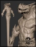 3d abs anthro biceps cgi claws fangs grey_background guild_wars guild_wars_2 horn james_vandenbog krait model model_sheet muscles naga official_art pecs plain_background reptile scalie scar sharp_teeth solo teeth video_games   Rating: Safe  Score: 1  User: e17en  Date: February 23, 2015