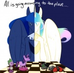 2012 broken cartoonlion chess_board chess_piece cutie_mark dragon duo equine female feral foreshadowing friendship_is_magic gaming green_sclera hi_res horn king_sombra_(mlp) mammal my_little_pony necklace princess princess_celestia_(mlp) princess_luna_(mlp) royalty scalie spike_(mlp) twilight_sparkle_(mlp) unicorn winged_unicorn wings  Rating: Safe Score: 11 User: 2DUK Date: November 27, 2012""