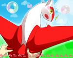 2014 ambiguous_gender angry blush butt butt_grab disembodied_hand duo feral hand_on_butt japanese_text latias legendary_pokémon looking_at_viewer nintendo open_mouth pinch pokémon rathikyou solo_focus squeezing teeth text video_games yellow_eyes  Rating: Safe Score: 5 User: Mienshao Date: September 07, 2014
