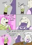 2015 anthro asriel_dreemurr blush boss_monster caprine clothing comic cooking dialogue english_text female fur gastropod goat hi_res long_ears male mammal mother narija parent snail son text toriel undertale unknown_artist video_games white_fur young  Rating: Safe Score: 38 User: Narija Date: October 19, 2015