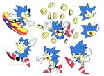 2018 anthro biped black_eyes blue_body blue_fur cigardoesart classic_sonic classic_sonic_(universe) clothing emanata eulipotyphlan fist frown fur gesture gloves green_eyes grin handwear hedgehog hi_res male mammal multiple_images multiple_poses on_one_leg pose ring_(sonic) simple_background smile snowboard solo sonic_the_hedgehog sonic_the_hedgehog_(series) standing white_background x_eyes
