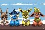 2015 anthro big_breasts blue_eyes breasts canine eevee eeveelution female flareon fur group hair jolteon looking_at_viewer mammal nintendo nipples pokémon smile table vaporeon video_games virate-chip   Rating: Questionable  Score: 5  User: Anonymous412  Date: May 13, 2015
