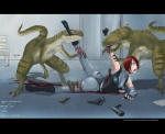 blood bone claws dino_crisis dinosaur eating female gore hard_vore human raptor regina_(dino_crisis) scalie tsurugi vorarephilia vore   Rating: Questionable  Score: 5  User: CatBox  Date: July 08, 2013