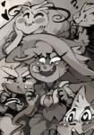 <3 <3_eyes ? ambiguous_gender anthro anthrofied avian bittenhard blaziken blush clothed clothing female group lagomorph licking licking_lips lopunny mammal milotic mismagius monochrome nintendo pokémon rabbit smile sofiya_ivanova tongue tongue_out video_games zangoose  Rating: Safe Score: 8 User: chdgs Date: August 11, 2015