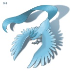 ambiguous_gender articuno avian beak bird ditb feathered_wings feathers feral legendary_pokémon nintendo pokémon red_eyes simple_background solo talons video_games white_background wings