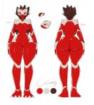 2016 anthro averyshadydolphin belly big_breasts big_butt breasts butt calamity claws digital_media_(artwork) dragon erect_nipples feet female fingers front_view fur hi_res looking_at_viewer markings model_sheet navel nipples nude pussy rear_view red_eyes red_skin scalie side_view simple_background small_head snout solo text thick_thighs toes white_background white_claws white_markings white_skin wide_hipsRating: ExplicitScore: 4User: Cat-in-FlightDate: April 24, 2018