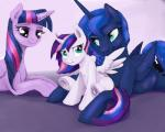 2015 equine fan_character female feral friendship_is_magic group horn mammal my_little_pony princess_luna_(mlp) silfoe twilight_sparkle_(mlp) winged_unicorn wings  Rating: Safe Score: 10 User: Robinebra Date: August 21, 2015