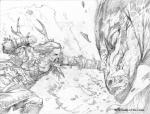 antlers blood dragon duo fight horn human magic_the_gathering male mammal pain punch scalie sketch surrak_dragonclaw teeth warrior wayne_reynolds  Rating: Safe Score: 3 User: Shardshatter Date: July 20, 2015