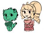 beady_eyes big_breasts blonde_hair breasts chibi cleavage clothed clothing crown dress duo eyelashes female gats hair horn huge_breasts human human_princess kobold kobold_princess low_res mammal princess royalty scalie simple_background smile thick_thighs towergirls under_boob white_background  Rating: Safe Score: 2 User: ROTHY Date: April 23, 2016