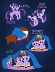 2012 bed blush comic cute cutie_mark disappointed dragon electronvolt english_text equine eye_contact female feral friendship_is_magic fur group hi_res horn humor madmax male mammal my_little_pony pillow purple_eyes purple_fur reading scalie spike_(mlp) suggestive text twilight_sparkle_(mlp) unicorn  Rating: Safe Score: 29 User: Sods Date: November 19, 2012""