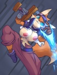 2015 anthro breasts canine clothing female fox jacket magic mammal melee_weapon nipples pants sword thefuckingdevil weapon  Rating: Questionable Score: 1 User: Numeroth Date: July 30, 2015
