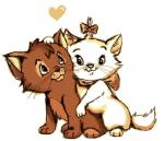 <3 bow couple crossover cuddling cute disney duo female fluffysora fur hair_bow hug male marie oliver oliver_and_company orange_fur the_aristocats whiskers white_fur young  Rating: Safe Score: 2 User: slyroon Date: September 28, 2015
