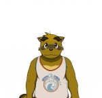 big_eyebrows chubby clothing fur male morenatsu plain_background shirt smile solo tanuki unknown_artist yellow_eyes yukiharu   Rating: Safe  Score: 4  User: BlackBoltEX  Date: August 22, 2013