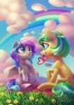 2018 <3 absurd_res blue_hair card cloud cute cutie_mark duo equine eyebrows eyelashes fan_character feathered_wings feathers female female/female feral flower grass green_eyes green_hair grin hair hi_res holidays holivi hooves horn love mammal mouth_hold multicolored_hair my_little_pony nude open_mouth open_smile outside pegasus plant purple_hair rainbow short_hair signature sitting sky smile teal_eyes teeth two_tone_hair underhoof unicorn white_feathers wingsRating: SafeScore: 3User: GlimGlamDate: June 21, 2018