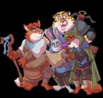 alandcapon anthro armor arrow belt benjamin_clawhauser bow_(weapon) canine cheetah cloak clothing crossbow digital_media_(artwork) disney dungeons_&_dragons duo feline female fox fur gideon_grey hi_res holding_object holding_weapon judy_hopps lagomorph larp male mammal map medieval melee_weapon nick_wilde pink_nose rabbit ranged_weapon staff sword toony weapon zootopiaRating: SafeScore: 4User: slyroonDate: June 22, 2017