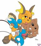 anal balls cpctail cum erection feral hi_res hitmontop humanoid licking male male/male nintendo nude paws penis pokémon pokémon_(species) raichu simple_background tongue tongue_out video_games white_background