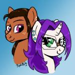 dioponi duo earth equine fan_character female headshot horn horse kyokimute kyoponi male mammal my_little_pony ocpony pony unicorn  Rating: Safe Score: 0 User: DioKyo Date: November 28, 2015