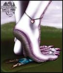 2003 <3 ambiguous_gender boots claws clothed clothing death digital_media_(artwork) dragon feet foot_fetish foot_focus footwear human mammal markie nude pink_scales purple_scales scales scalie size_difference stomping toe_claws  Rating: Questionable Score: 1 User: GameManiac Date: April 01, 2015