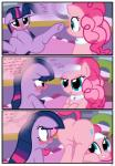 blue_eyes blush butt comic dialogue english_text equine featureless_crotch female feral friendship_is_magic fur hair headband hi_res horn horse inside mammal multicolored_hair my_little_pony open_mouth pink_fur pink_hair pinkie_pie_(mlp) pony presenting presenting_hindquarters purple_eyes purple_fur purple_hair pyruvate raised_tail smile spa spread_legs spreading text twilight_sparkle_(mlp) unicorn   Rating: Questionable  Score: 11  User: Jatix  Date: January 10, 2014