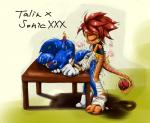 anal anal_penetration anthro dinosaur drooling duo gatoh_(artist) hedgehog male male/male mammal penetration raptor reptile saliva scalie sex sonic_(series) sonic_the_hedgehog sweat talin tongue toony wet wraps  Rating: Explicit Score: 0 User: slyroon Date: October 10, 2015