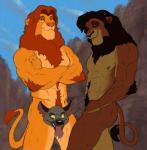 anthro censored creative_censorship disney duo ed_(lion_king) feline hyena koutou kovu lion male mammal muscles simba the_lion_king   Rating: Questionable  Score: 1  User: Pokelova  Date: February 01, 2015