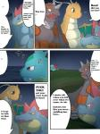 beach comic dragonite english_text female feraligatr ivysaur maggotscookie male nintendo outside pokémon rhyperior seaside sky text video_games   Rating: Questionable  Score: 2  User: Imaderule34  Date: October 14, 2013