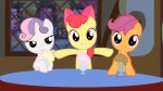 2012 amber_eyes animated apple_bloom_(mlp) cub cute cutie_mark_crusaders_(mlp) drinking earth_pony equine eyes_closed female feral friendship_is_magic green_eyes group hair hair_bow hair_ribbon horn horse inside looking_at_viewer mammal milkshake multicolored_hair my_little_pony orange_body pony purple_eyes purple_hair red_hair ribbons scootaloo_(mlp) straw sweetie_belle_(mlp) table two_tone_hair unicorn unknown_artist white_body window yellow_body young