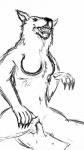 anthro breasts canine cowgirl_position faceless_male fangs female human human_on_anthro interspecies larger_female lying male male/female mammal monochrome on_back on_top open_mouth penetration penis pussy sex sharp_claws simple_background size_difference smaller_male solo_focus teeth unknown_artist vaginal vaginal_penetration were werewolf white_background wolf  Rating: Explicit Score: 0 User: SwiperTheFox Date: October 03, 2015