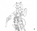 anthro breasts canine female gun handgun hobbes_maxwell holding holding_weapon mammal muscles ranged_weapon revolver solo weapon wolf  Rating: Safe Score: 2 User: LadyFuzztail Date: March 14, 2007