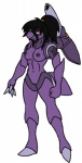 anthro breasts decepticon female gb_of_bs genesect legendary_pokémon looking_at_viewer nintendo nipples orange_eyes pokémon pokémon_(species) pussy solo transformers video_games