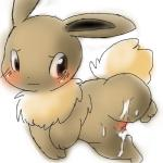 after_sex blush brown_eyes brown_fur canine crying cum cum_on_body cum_on_pussy cute eevee female feral fur looking_back mammal nintendo plain_background pokémon pussy solo tears unknown_artist video_games white_background   Rating: Explicit  Score: 5  User: Hydr0  Date: December 24, 2014