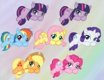 2013 applejack_(mlp) blue_eyes blue_feathers blue_fur blush cowboy_hat cutie_mark earth_pony equine feathers female feral fluttershy_(mlp) freckles friendship_is_magic fur group hair hat horn horse mammal multicolored_hair my_little_pony orange_fur pegasus pink_fur pink_hair pinkie_pie_(mlp) pony purple_eyes purple_hair rainbow_dash_(mlp) rainbow_fur rainbow_hair rarity_(mlp) twilight_sparkle_(mlp) two_tone_hair unicorn winged_unicorn wings wolfmoondesires yellow_feathers yellow_fur  Rating: Safe Score: 7 User: PuppyButt Date: July 25, 2013