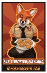 anthro badge black_nose canine cookie english_text female food fox looking_at_viewer macorig mammal necktie orange_eyes propaganda solo text uniform  Rating: Safe Score: 6 User: Lulztron Date: September 17, 2011