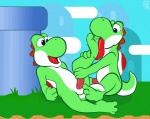 anthro balls compfive dinosaur duo erection feet foot_fetish licking male male/male mario_bros masturbation nintendo nude open_mouth penis scalie sex tongue tongue_out video_games yoshi  Rating: Explicit Score: 3 User: Hawkbird Date: July 15, 2015