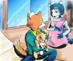 anthro blue_fur canine couple duo female fox fox_mccloud fur krystal male mammal nintendo orange_fur pregnant sitting star_fox toy unknown_artist video_games  Rating: Safe Score: 3 User: Cαnε751 Date: June 14, 2015""