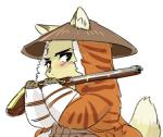 1boshi anthro blush canine cub fox fur gun japanese kemono male mammal ranged_weapon simple_background solo weapon young  Rating: Safe Score: 3 User: SkokiaanFox Date: June 05, 2015