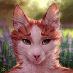 ambiguous_gender anthro blurred_background brown_fur caraid day detailed feline flower front_view fur green_eyes headshot_portrait inner_ear_fluff mammal nude orange_fur outside pink_nose plant portrait smile solo whiskers white_furRating: SafeScore: 59User: Cat-in-FlightDate: August 06, 2017
