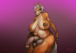 2014 animal_genitalia anthro areola balls bedroom_eyes big_balls big_breasts big_penis breasts brown_eyes brown_fur chubby dickgirl equine erection flaccid fur gradient_background grey_hair hair half-closed_eyes horse horsecock intersex looking_at_viewer mammal navel nipples nude oneobese overweight penis sheath simple_background smile solo tan_fur voluptuous wide_hips  Rating: Explicit Score: 23 User: Peekaboo Date: November 06, 2014