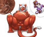 2014 anthro anus balls belly big_belly braided_hair breasts brown_fur brown_hair butt claws dragon duo eyes_closed feline flaccid fully_sheathed fur hair half-closed_eyes hand_on_belly herm horn humanoid_penis hybrid internal intersex jokanai-henka kalnareff kalnareff_(character) lion long_hair male mammal navel nipples nude penis pink_nose pointy_ears pregnant purple_scales pussy red_fur scalie sheath simple_background sitting smile spread_legs spreading teeth thought_bubble toe_claws transformation umbilical_cord unbirthing uterus vore wet white_background white_fur white_hair white_scales  Rating: Explicit Score: 5 User: GameManiac Date: August 07, 2015