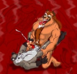 abs anal anal_penetration balls beast_(disney) beauty_and_the_beast biceps canine chest_tuft cum cum_in_ass cum_inside cumshot disney duo erection eyes_closed fangs fur handjob horn kneeling lying male male/male mammal muscles nude on_back orgasm paws pecs penetration penis saliva sex sketch tongue tuft wolf  Rating: Explicit Score: 9 User: jimfoxx Date: September 27, 2012